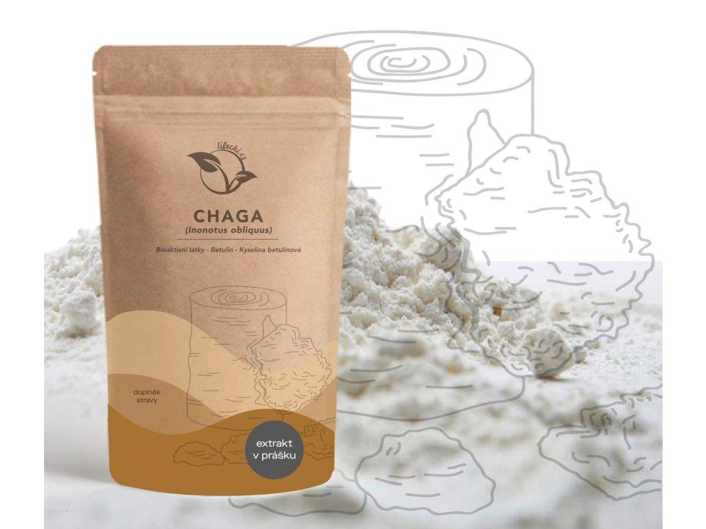 LifeChi - Chaga (Inonotus obliquus) extrakt v prášku 50 g