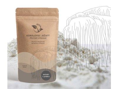 LifeChi - Korálovec ježatý (Hericium erinaceus) extrakt v prášku 50 g